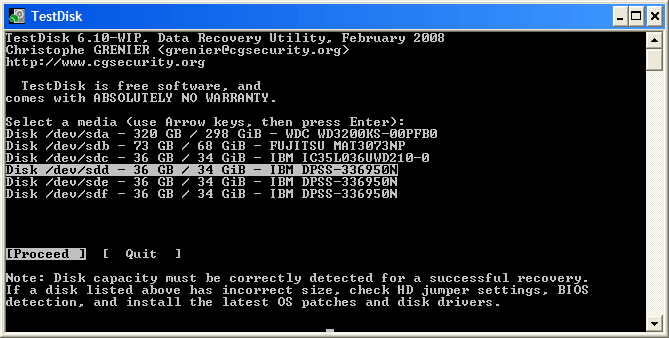 TestDisk Data Recovery Software