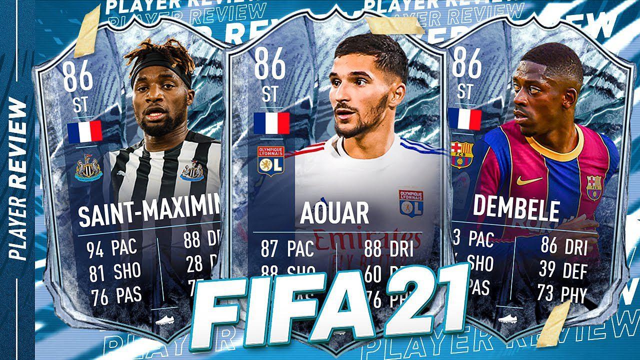 FIFA 21 Freeze Dembele, Saint-Maximin & Aouar Player Review