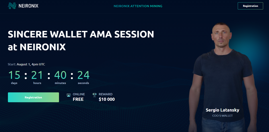 $10.000 in Rewards Up for Grabs in an AMA-session with S-Wallet Founder Next Month!